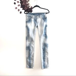 Miss Me Light Wash Tie-Dye Look Sunny Skinny Jeans